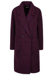 Fialový dlhý kabát Jacqueline de Yong Kelly