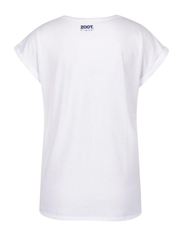 dc24ecf38d7b Biele dámske tričko s potlačou ZOOT Original Hippie