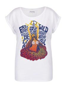 Biele dámske tričko s potlačou ZOOT Original Hippie