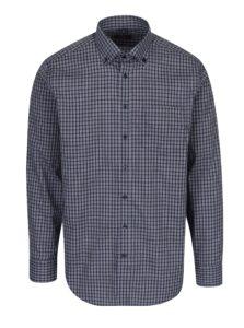 Tmavomodrá kockovaná modern fit košeľa Seidensticker