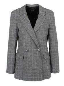 Čierno-sivé dlhé vzorované sako Miss Selfridge