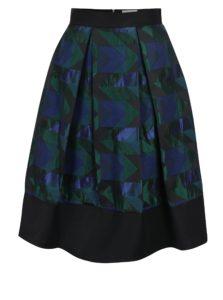 Zeleno-čierna vzorovaná áčková sukňa Closet