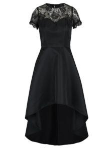 Čierne šaty s čipkovanými detailmi Chi Chi London Georgee