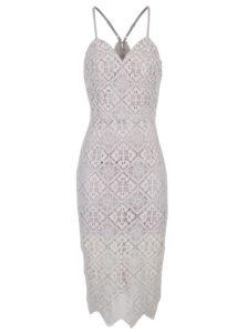 Svetlofialové čipkové šaty Chi Chi London