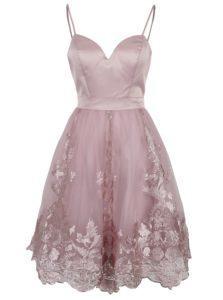 900e3efe98ba Staroružové šaty s tylovou sukňou Chi Chi London Elise