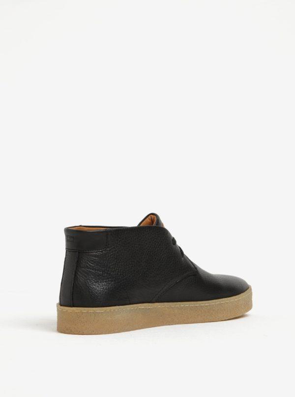 Čierne pánske členkové topánky Tommy Hilfiger Logan