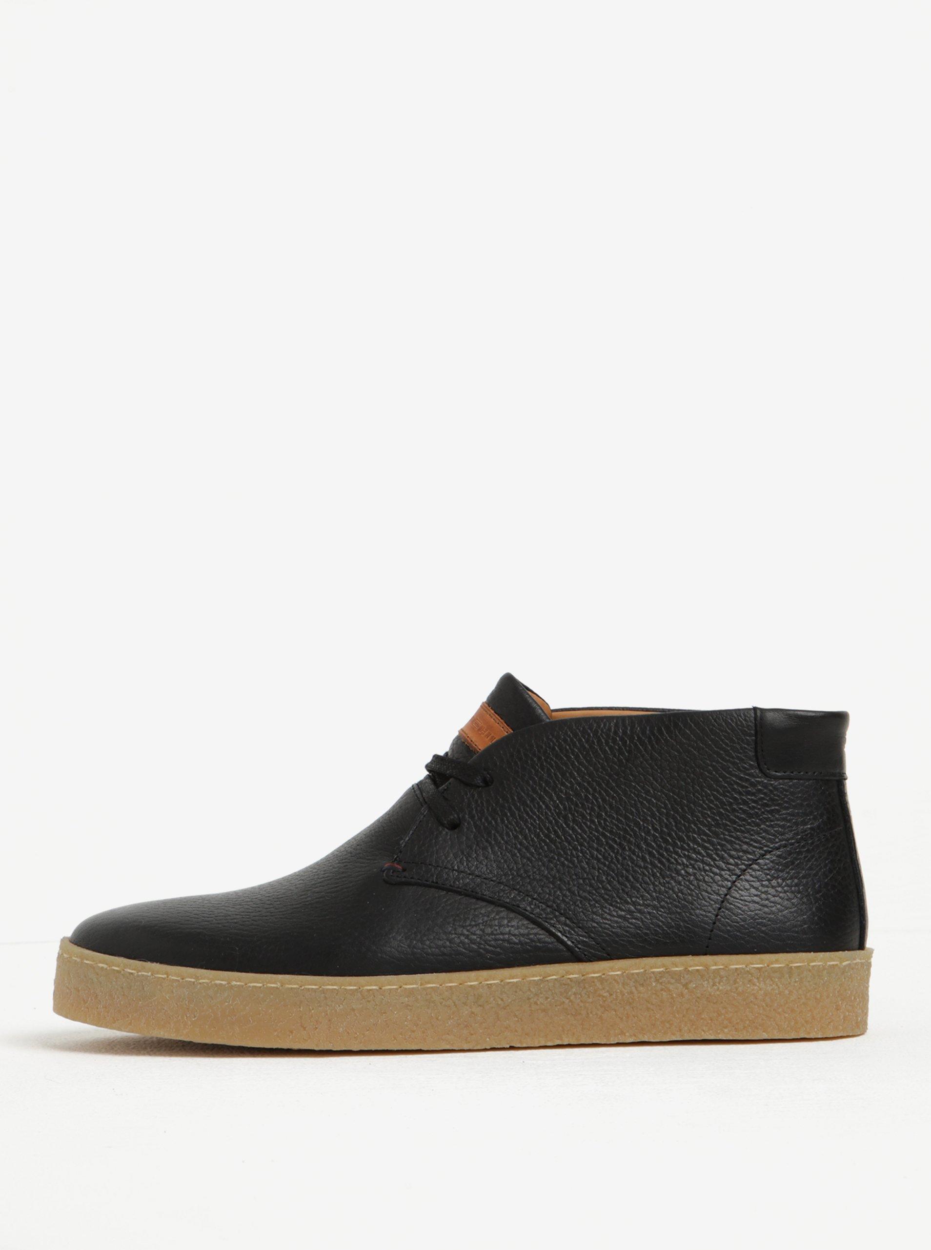 Čierne pánske členkové topánky Tommy Hilfiger Logan  5ef0f022a8