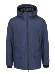 Tmavomodrá pánska zimná vodovzdorná bunda Geox