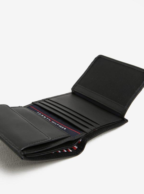 čierna pánska kožená peňaženka Tommy Hilfiger core
