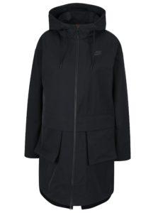 Čierna dámska parka s kapucňou Nike