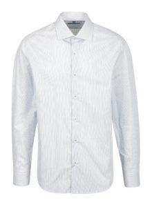 Modrá pruhovaná formálna slim fit košeľa Braiconf Iacob