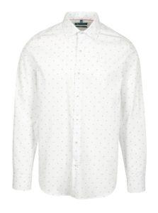 Biela vzorovaná formálna slim fit košeľa Braiconf Nicoara