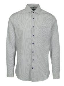Zelená pruhovaná formálna super slim fit košeľa Braiconf Flaviu