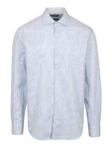 Modro-biela pruhovaná formálna slim fit košeľa Braiconf Nicu