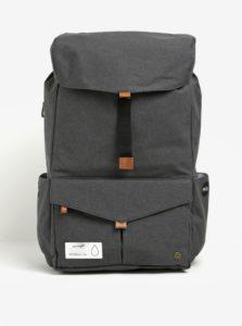 Tmavosivý funkčný batoh na notebook s predným vreckom PKG