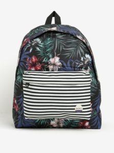 Čierny dámsky vzorovaný batoh s pruhmi Roxy Be Young 24 l