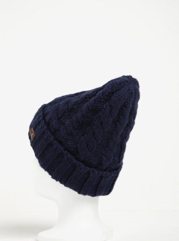 Tmavomodrá dámska pletená čiapka Roxy Tram