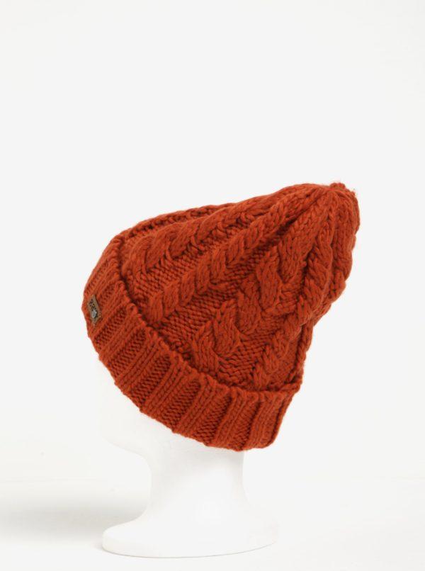 Tehlová dámska pletená čiapka Roxy Tram