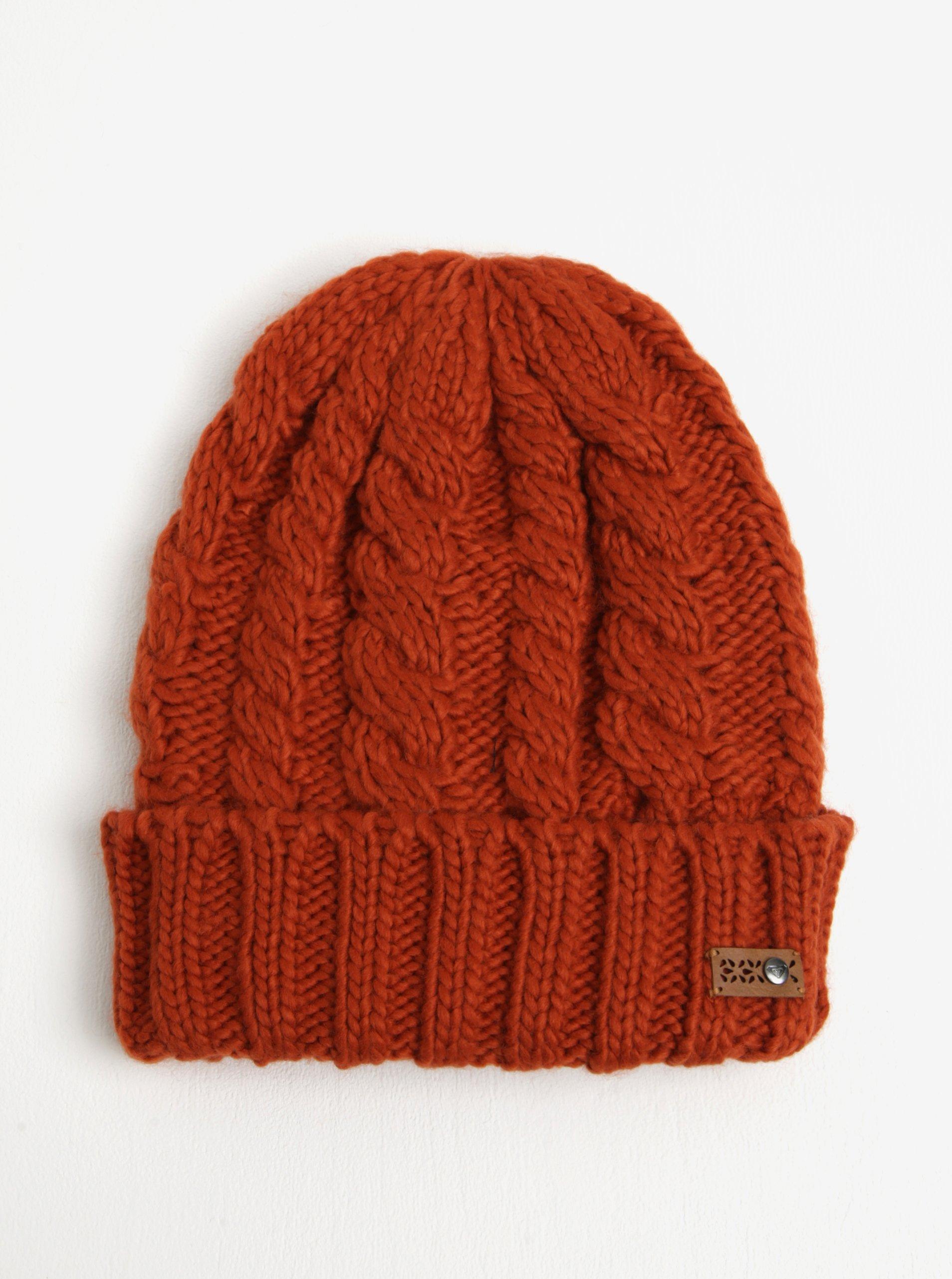 ec017649b Tehlová dámska pletená čiapka Roxy Tram | Moda.sk