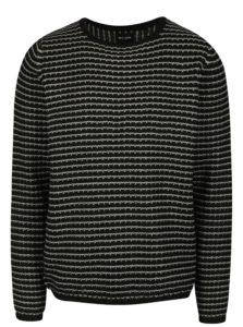 Sivo-čierny pruhovaný sveter ONLY & SONS Tyson