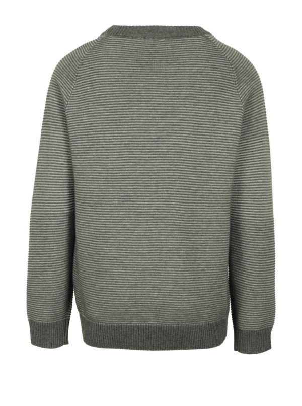 Sivý chlapčenský rebrovaný sveter name it Juffe
