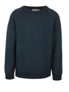 Tmavomodrý chlapčenský rebrovaný sveter name it Juffe