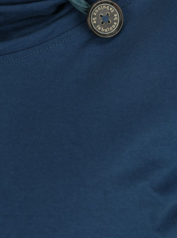 Petrolejové tričko s golierom Tranquillo Noreen