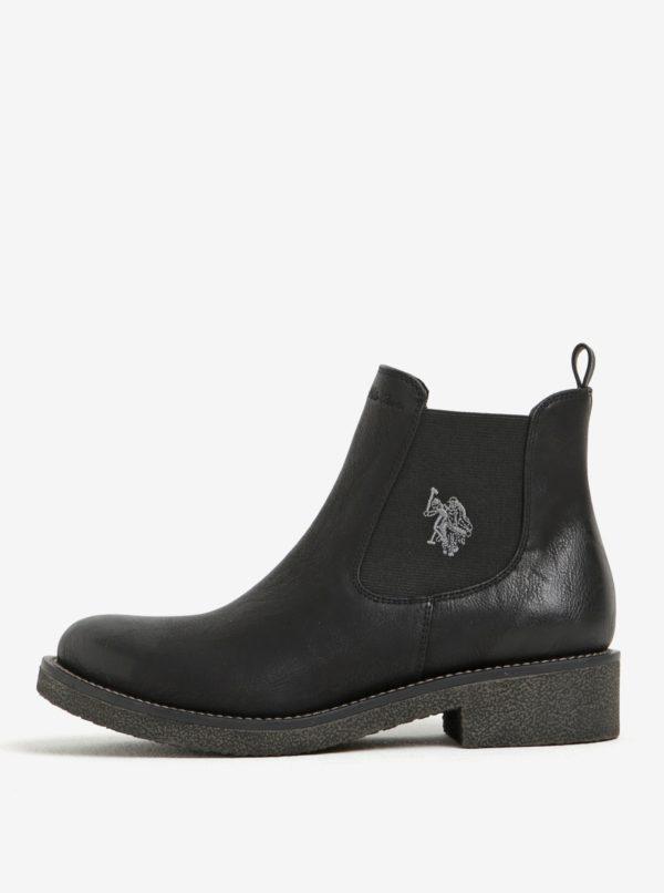 Čierne chelsea topánky U.S. Polo Assn.