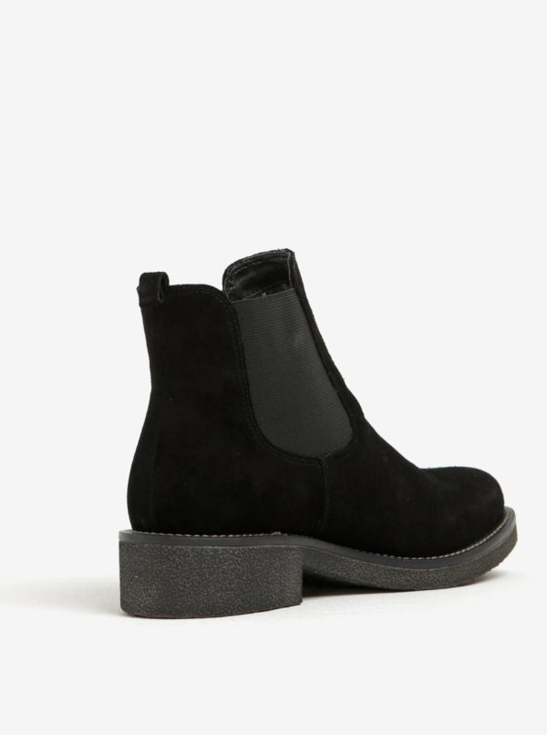 Čierne semišové chelsea topánky U.S. Polo Assn.