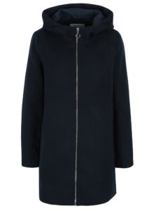 Tmavomodrý kabát s kapucňou VILA Daniella