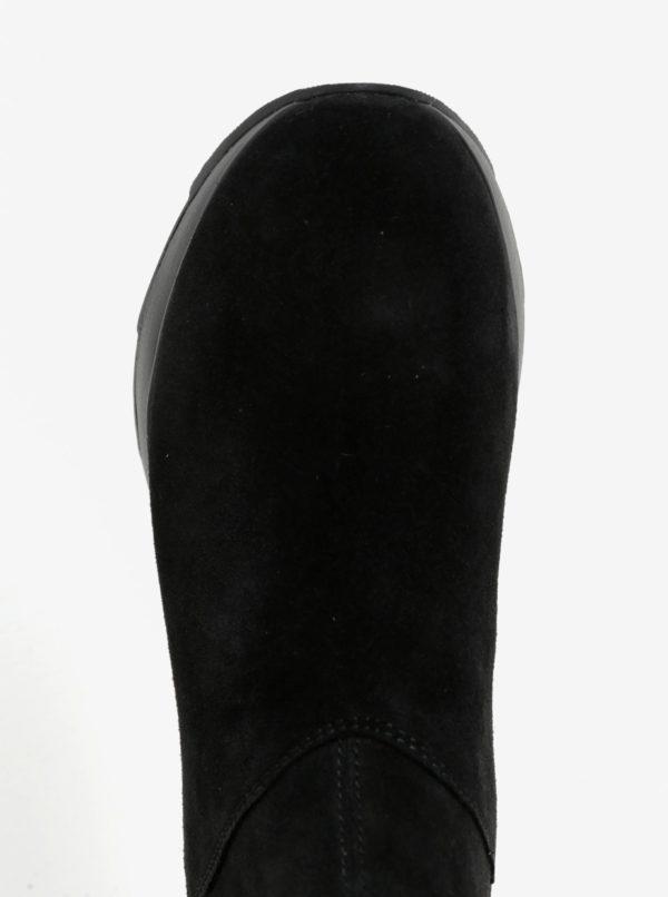 Čierne dámske semišové členkové topánky Geox Gendry