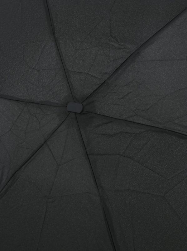 Čierny skladací dáždnik RAINY SEASONS Flat Plain