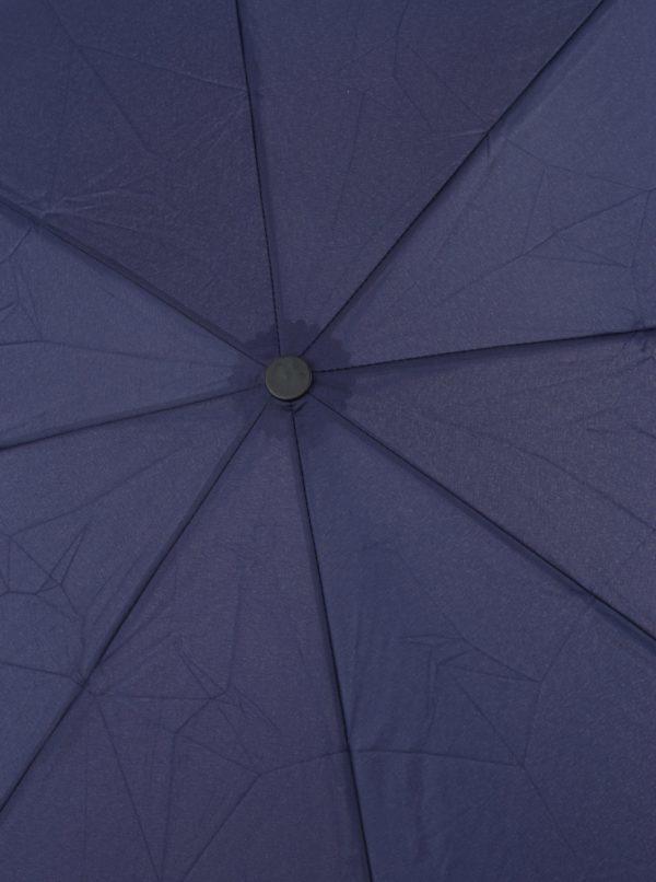 Modrý skladací vystreľovací dáždnik RAINY SEASONS Moon