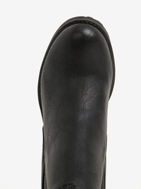Čierne členkové topánky na podpätku U.S. Polo Assn.