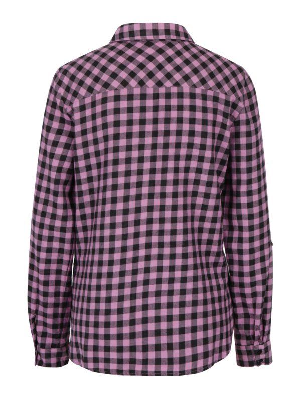 Ružová kockovaná košeľa Noisy May Erik