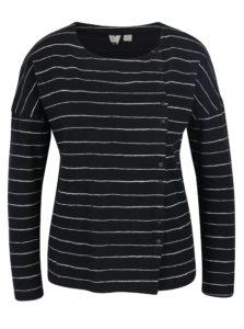 Čierno-biele dámske pruhované tričko Roxy Dream Taste