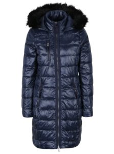 Tmavomodrý prešívaný kabát VERO MODA Onella