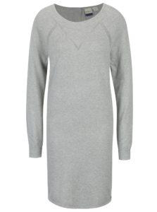 Sivé dámske melírované svetrové šaty Roxy Winter Story
