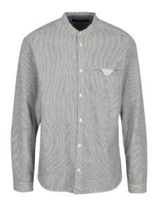 Čierno-krémová pruhovaná košeľa s vreckom SUIT Dale