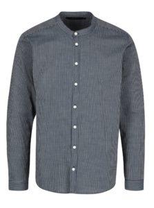 Tmavomodrá pruhovaná košeľa SUIT Jessen
