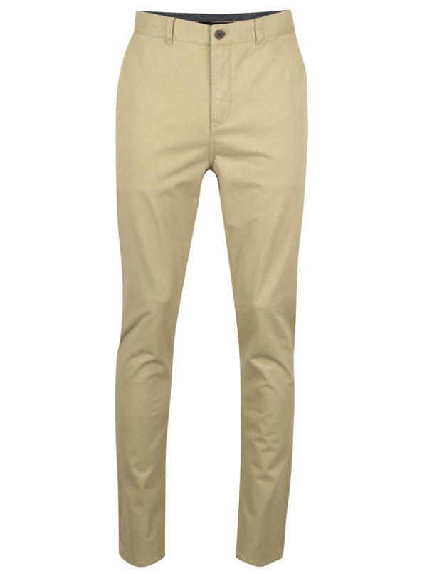 Béžové chino nohavice SUIT Frank