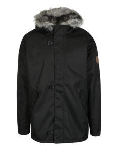 Čierna pánska bunda s kožúškom Makia Original  Raglan