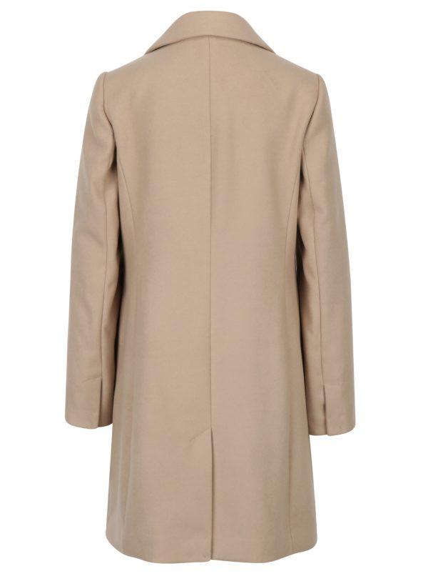 Béžový kabát s vreckami Dorothy Perkins