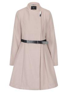 Staroružový kabát s opaskom Dorothy Perkins