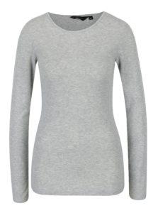 Sivé melírované tričko s dlhým rukávom Dorothy Perkins