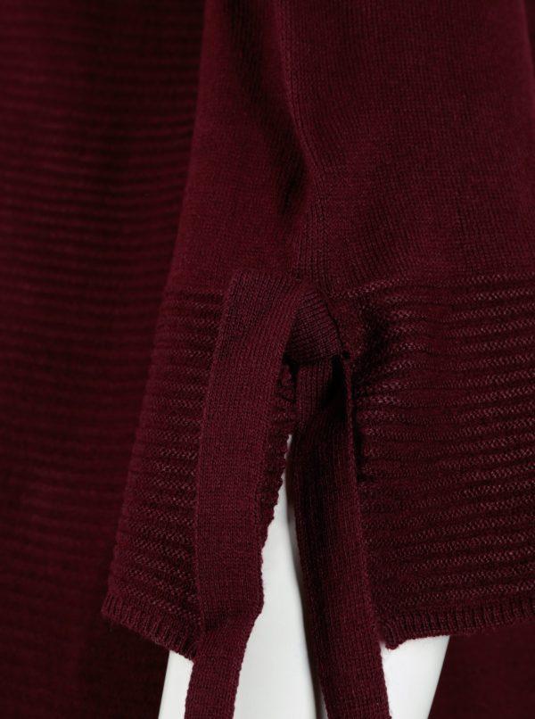 Vínový sveter so zvonovými rukávmi Dorothy Perkins Curve