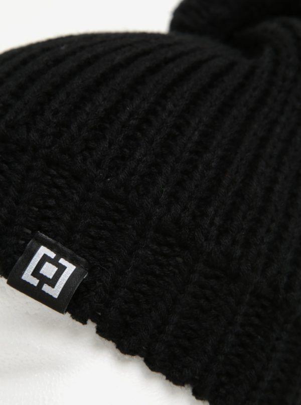 Čierna dámska zimná čiapka s brmbolcom Horsefeathers Alexa