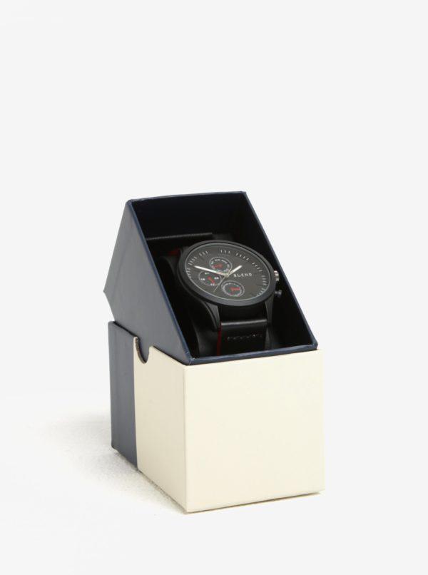 Čierne hodinky s červenými detailmi Blend