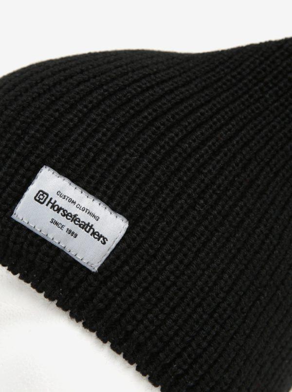 Čierna dámska zimná čiapka Horsefeathers Berta