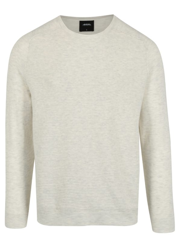 Krémový melírovaný sveter Burton Menswear London